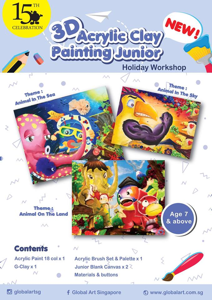 3D Acrylic Clay Painting Junior Holiday Workshop!