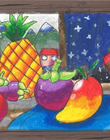 Global Art Bedok Student Drawing and Colouring Work