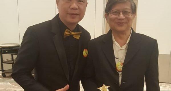 Global Art Hougang Bedok Yishun Principal at 2018 Award Ceremony With Founder