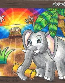 Global Art Yishun Student Colouring Work