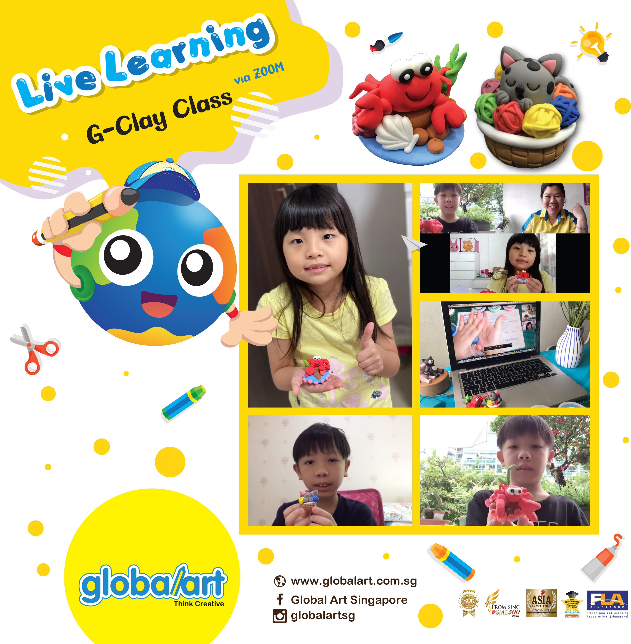 Live Learning G-clay lesson Poster