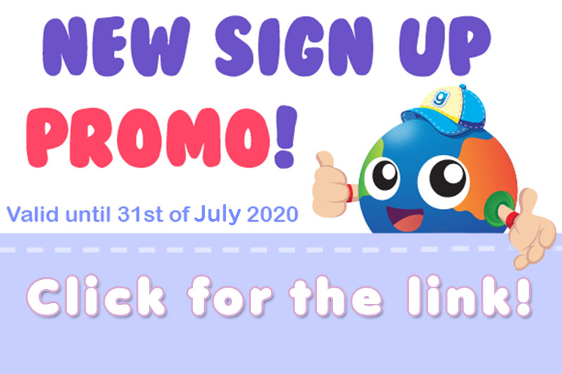 New Sign Up Promo til 31 July.