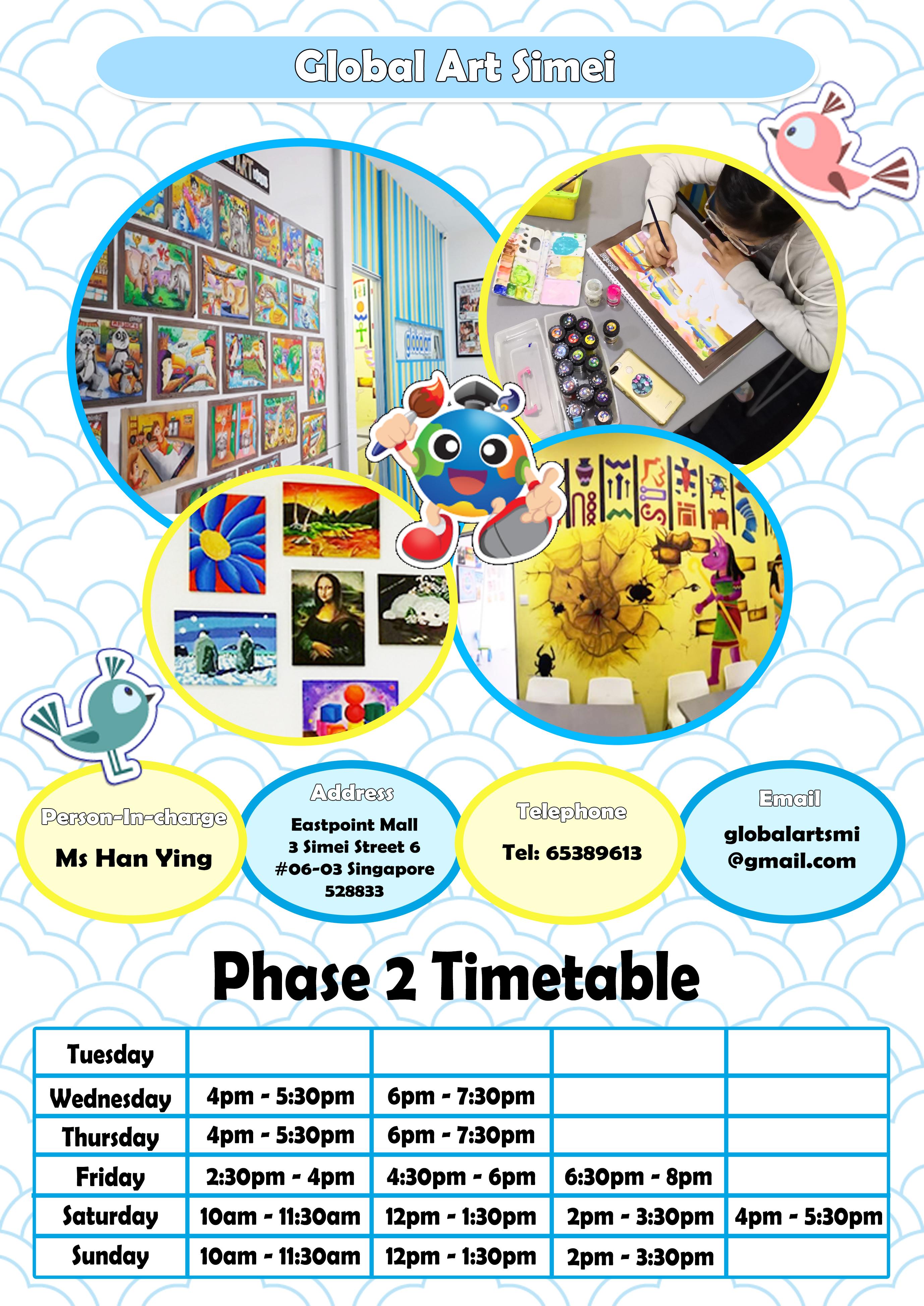 SMI Phase 2 Timetable 20210323