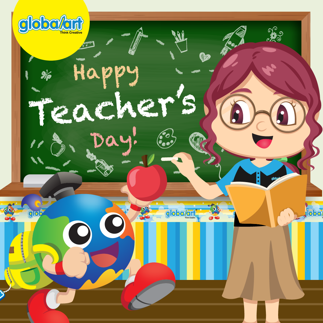 Happy Teacher's Day 2021 Greetings from Global Art Singapore